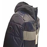 Демісезонна коротка курточка на хлопчика підлітка, колір синій, р-ри 140-170, мод.Даріо, фото 5
