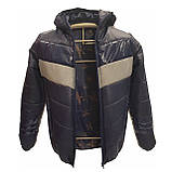 Демісезонна коротка курточка на хлопчика підлітка, колір синій, р-ри 140-170, мод.Даріо, фото 6