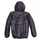Демісезонна коротка курточка на хлопчика підлітка, колір синій, р-ри 140-170, мод.Даріо, фото 7