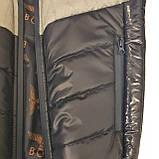 Демісезонна коротка курточка на хлопчика підлітка, колір синій, р-ри 140-170, мод.Даріо, фото 8