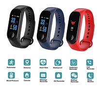 Смарт-часы  M3Plus спортивные умные часы  с измерением давления браслет для мужчин и женщин
