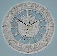 Настінний годинник білий з патиною (40 см.), фото 1