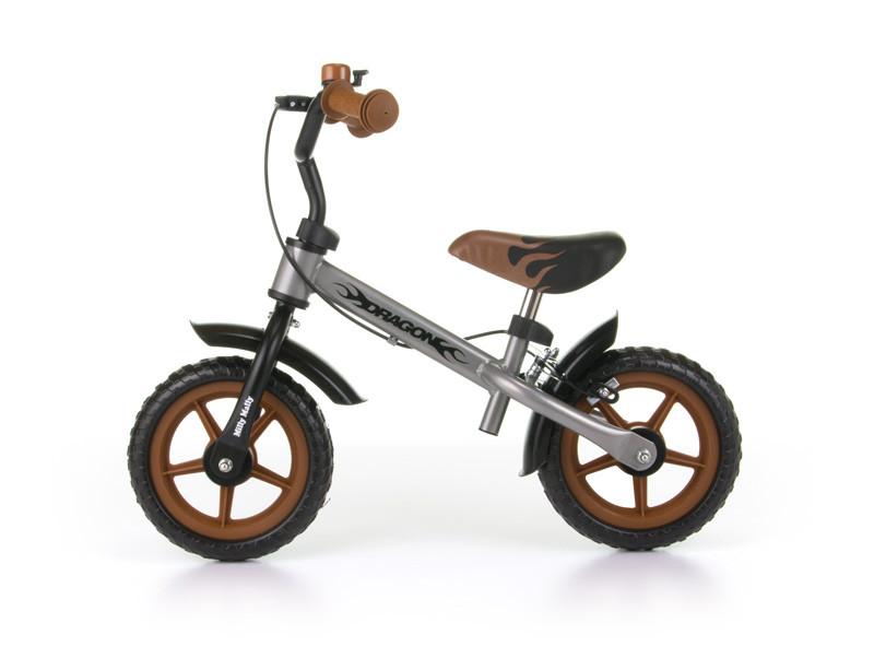 Велосипед без педалей Milly Mally Dragon с тормозом (красный(Silver))