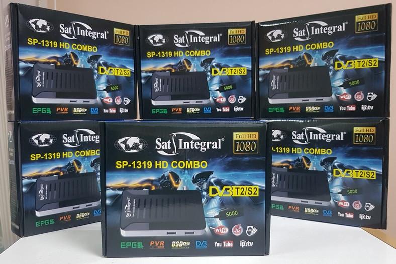 Комбинированный Mpeg4 ресивер Sat-Integral SP-1319 HD Combo DVB-T2/S2