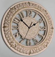 Настінний годинник, бежевий з патиною (40 см.)