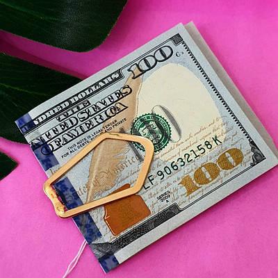 Затиск для грошей золото 585 проби - Золотий затиск для грошей - Затискач для купюр золото