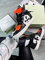 """Кроссовки Off-White Low 3.0 leather high top """"Black/White"""", фото 3"""