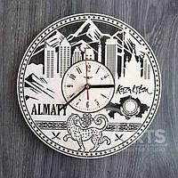 "Интерьерные часы на стену ""Алма-Ата, Казахстан"""