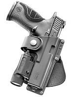 Кобура Fobus для Glock-17/22 с подствольным фонарем, поясной фиксатор (2370.17.61)