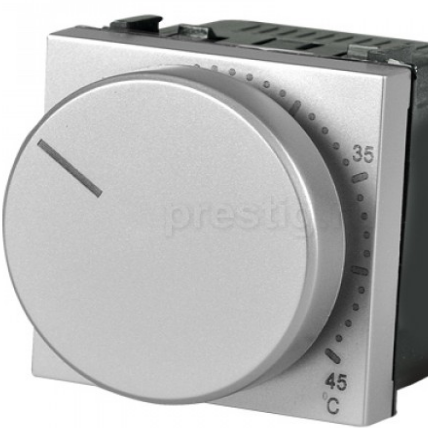Терморегулятор для теплого пола, серебристый металлик Zenit ABB ZENIT N2240.3 PL, 2 модуля