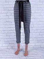 Классические женские брюки с поясом (белый, чёрный, серый)