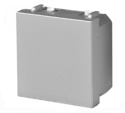 Заглушка, сріблястий металік ZENIT ABB NIESSEN N2200 PL, 2 модуля