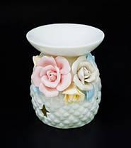 Аромалампа керамическая с цветами