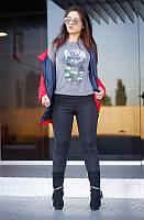 """Лосины женские на флисе черные """"Молли"""" арт.401-1, фото 1"""