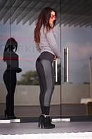 """Лосины женские на флисе черные """"Вита"""" арт.439-10, фото 1"""