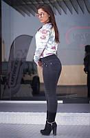 """Лосины женские на флисе черные """"Вайт"""" арт.4046-1, фото 1"""