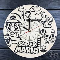 """Стильные настенные деревянные часы """"Супер Марио"""""""
