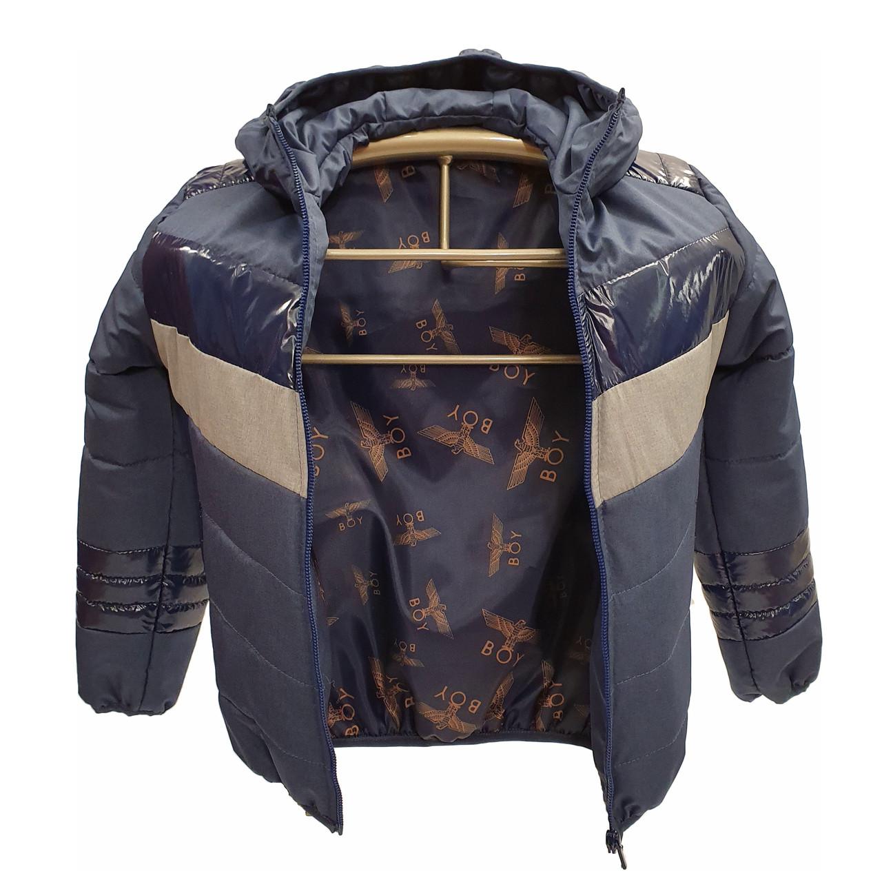 Підліткова куртка на весну осінь для хлопчика, колір джинс, р-ри 140-170, мод.Даріо