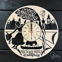 """Оригинальные настенные часы из дерева """"Мэри Поппинс"""""""