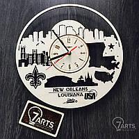 """Интерьерные часы на стену """"Новый Орлеан, Луизиана"""""""