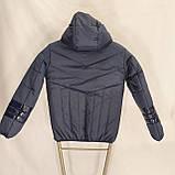Підліткова куртка на весну осінь для хлопчика, колір джинс, р-ри 140-170, мод.Даріо, фото 3
