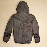 Підліткова куртка на весну осінь для хлопчика, колір джинс, р-ри 140-170, мод.Даріо, фото 5