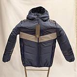 Підліткова куртка на весну осінь для хлопчика, колір джинс, р-ри 140-170, мод.Даріо, фото 2