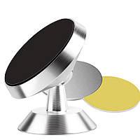 Универсальный магнитный держатель для телефона в автомобиль «Magnum» 360 градусов (серебристый)