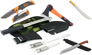 Нож, Лопата,Топор,Мачете