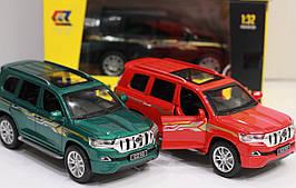 """Машинка коллекционная """"Джип Toyota Prado Land Cruiser"""" инерционная, металлическая 14 см"""