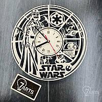 """Оригинальные настенные часы из дерева """"Звездные Войны"""""""