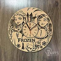 """Настенные часы в детскую комнату """"Холодное сердце"""""""