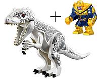 Динозавр Индоминус Длина 29 см с большой фигуркой Таноса Конструктор аналог лего, фото 1