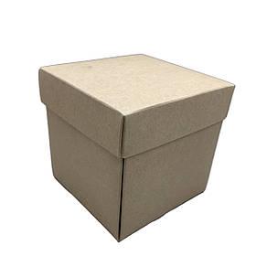Упаковка для чашек из картона с крышкой (крафтовый картон)