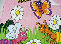 Плед из микрофибры Веселые букашки (на розовом)