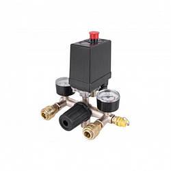 Автоматика для компрессора 380В 20А в сборе, прессостат, реле - 236608