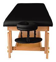 Стационарный массажный стол деревянный, кушетка для массажа MAT
