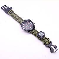 Тактические часы с браслетом из паракорда Extreme Style зеленые