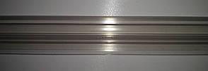 Б/у Ценникодержатель на корзины из металлических прутьев, высота 35 мм, длина 450 мм, прозрачный, фото 2
