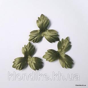 Трилистник тканевой, 4.5 см, Цвет: Зеленый (50 шт.)