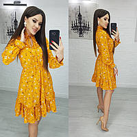 Женское красивое платье с цветочными принтами