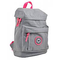 Городской подростковый молодежный рюкзак серый для девушек  YES ST-25 Neutral grey в старшую школу (555593)