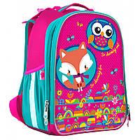 Ортопедический рюкзак (ранец) в школу розовый для девочек YES Hearts для начальной школы H-25 (555786)