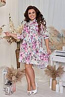 Платье стильное молодёжное свободного кроя женское, фото 1