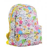 Молодежный городской рюкзак разноцветный для девушек YES ST-28 Smile для подростков (554942)
