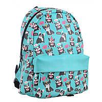 Городской молодежный рюкзак голубой для девушек  YES ST-28 Okey dokey для старшеклассницы (554976)