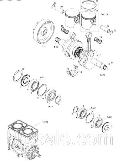 Полутрапезное кольцо 82.25 мм Sea-Doo BRP L-ring 82.25 *SEMI-TRAPEZ RING, 1ST, 82.25 MM