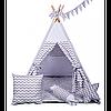 """Игровая палатка-вигвам """"Альпы"""" с аксессуарами (светло-серый) ТМ """"Хатка"""""""
