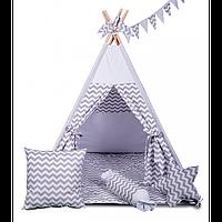 """Игровая палатка-вигвам """"Альпы"""" с аксессуарами (светло-серый) ТМ """"Хатка"""", фото 1"""