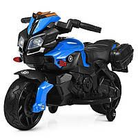 Детский электромотоцикл Bambi M 3832 Черно-синий (M 3832 EL-2-4)